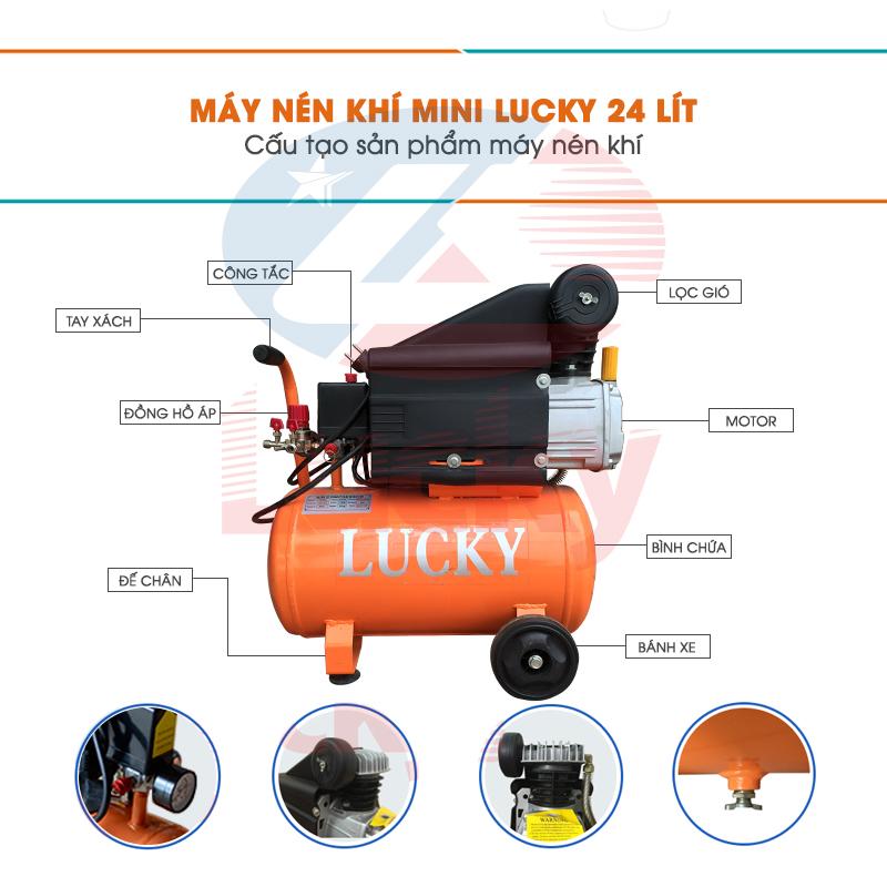 máy nén khí mini 24l