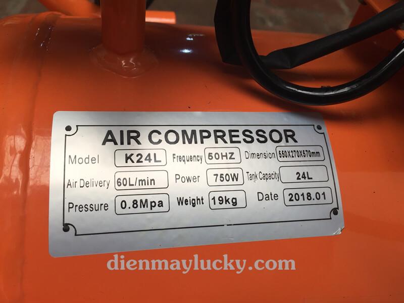 Máy bơm khí nén không ồn mini 24 lít