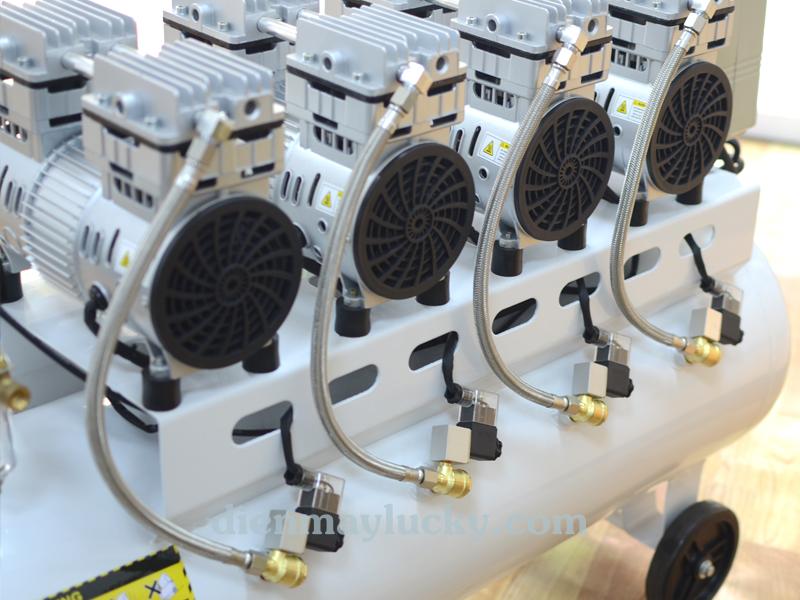 máy nén khí không dầu 120L