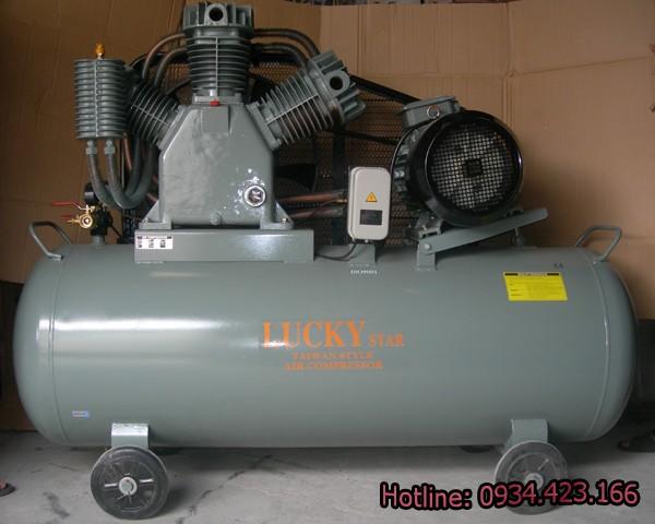 Máy nén khí công nghiệp Lucky 500 lít 15HP 2 cấp