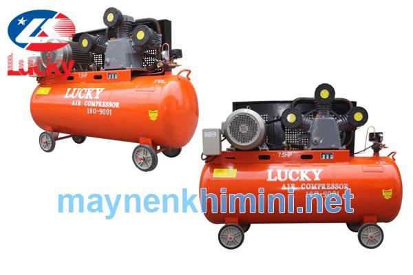 Máy nén khí công nghiệp lucky 210 lít 7,5HP