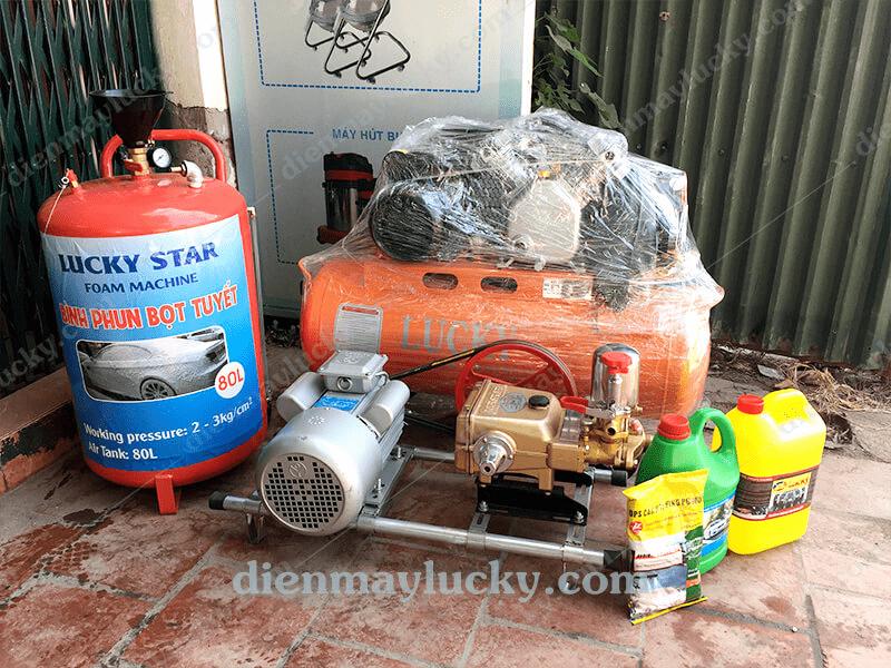 bộ thiết bị rửa xe máy