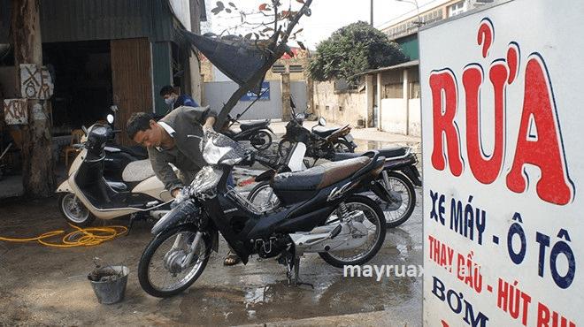 mở tiệm rửa xe máy