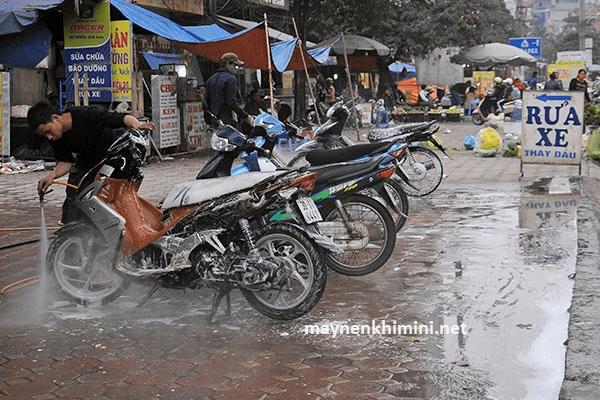 chi phí mở tiệm rửa xe máy